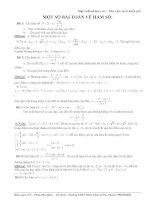 Một số bài tập về hàm số có lời giải