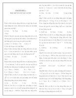 Tài liệu Chuyên đề 2: Bài tập trắc nghiệm về con lắc lò xo docx