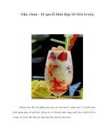 Tài liệu Sữa chua - bí quyết làm đẹp từ bên trong pptx