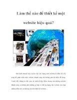 Tài liệu Làm thế nào để thiết kế một website hiệu quả? doc