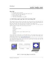 Tài liệu Ngôn ngữ lập trình ASP - Phần 1 - Giới thiệu pptx