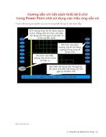 Tài liệu Hướng dẫn cách thiết kế ô chữ trong Power Point pptx