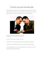 Tài liệu Ứng biến trong chiến thuật đàm phán pdf