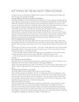 Tài liệu KỸ NĂNG SỬ DỤNG MÁY TÍNH CƠ BẢN pptx