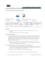 Tài liệu Lab 3.2.3 Configuring Interface Descriptions docx
