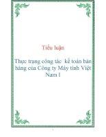 Tài liệu Tiểu luận Thực trạng công tác kế toán bán hàng của Công ty Máy tính Việt Nam I docx