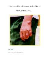 Tài liệu Nguyên nhân - Phương pháp điều trị bệnh phong (cùi) pptx