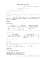 Tài liệu Polime và vật liệu polime (Hồ Chí Tuấn - ĐH Y HN) pdf