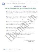 Tài liệu Các bài toán xác định điểm nhờ phương trình đường thẳng (Bài tập và hướng dẫn giải) doc