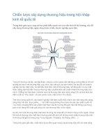 Tài liệu Chiến lược xây dựng thương hiệu trong hội nhập kinh tế quốc tế pdf