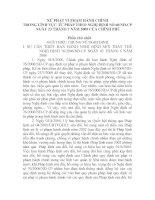 XỬ PHẠT VI PHẠM HÀNH CHÍNH TRONG LĨNH vực tư PHÁP THEO NGHỊ ĐỊNH số 60nđ CP NGÀY 23 THÁNG 7 năm 2009 của CHÍNH PHỦ