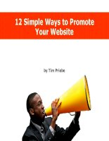 12 Simple Ways to Promote Your Website