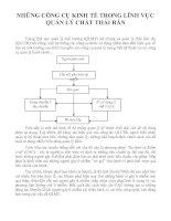 Tài liệu NHỮNG CÔNG CỤ KINH TẾ TRONG LĨNH VỰC QUẢN LÝ CHẤT THẢI RẮN ppt