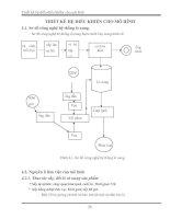 Tài liệu Thiết kế hệ điều khiển cho mô hình pdf