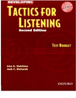 Tài liệu Developing tatics for listening test book pdf