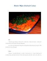 Tài liệu Bánh Mặn (Salted Cake) ppt