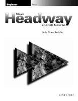 Tài liệu New Headway beginner - Tests doc