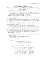 THIẾT kế QUY TRÌNH CÔNG NGHỆ CHẾ tạo CHI TIẾT 14 VAN của VAN CHẮN