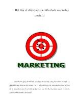 Tài liệu Hỏi đáp về chiến lược và chiến thuật marketing (Phần 7) doc