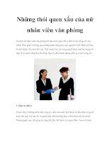 Tài liệu Những thói quen xấu của nữ nhân viên văn phòng ppt