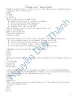 Tài liệu Đề kiểm tra vật lý 10 cơ bản số 3 pptx