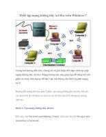 Tài liệu Thiết lập mạng không dây Ad Hoc trên Windows 7 docx