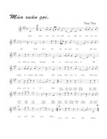Tài liệu Bài hát mùa xuân gọi - Trần Tiến (lời bài hát có nốt) pdf