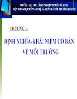 Tài liệu Chương 1: Định nghĩa - khái niệm cơ bản về môi trường docx