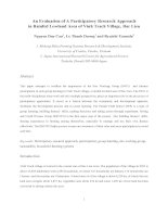 Tài liệu An Evaluation of A Participatory Research Approach in Rainfed Lowland Area of Vinh Trach Village, B pptx