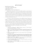 Tài liệu Giáo trình Chăn nuôi trâu bò - TLieu tham khảo docx