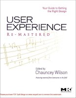 Tài liệu User Experience Re-Mastered Your Guide to Getting the Right Design- P1 ppt