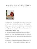 Tài liệu Cách chăm sóc bé từ 3 tháng đến 1 tuổi doc