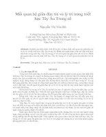 Mối quan hệ giữa đức tin và lý trí trong triết học tây âu trung cổ