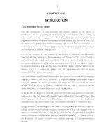 THIẾT kế GIÁO TRÌNH TIẾNG ANH CHUYÊN NGÀNH kỹ THUẬT VIỄN THÔNG CHO SINH VIÊN năm THỨ tư KHOA điện   điện tử TRƯỜNG đại học GIAO THÔNG vận tải