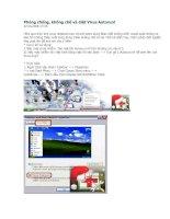 Tài liệu Phòng chống, khống chế và diệt Virus Autorun! doc