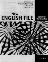 Tài liệu New english file elementary workbook key ppt