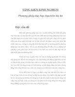Tài liệu SÁNG KIẾN KINH NGHIỆM - Phương pháp dạy học dựa trên dự án doc