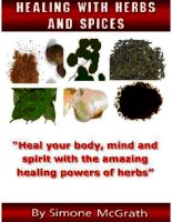 Healing with herbs and spices heal your body, mind and spirit