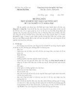 Tài liệu HƯỚNG DẪN MỘT SỐ ĐIỂM VIẾT BÁO CÁO TỔNG KẾT ĐỀ TÀI NGHIÊN CỨU KHOA HỌC docx