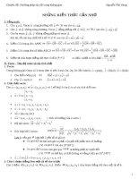Lý thuyết căn bản luyện thi đại học môn toán