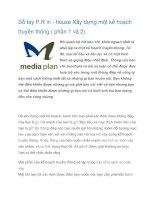 Tài liệu Sổ tay P.R in - house Xây dựng một kế hoạch truyền thông ( phần 1 và 2) ppt