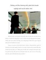 Tài liệu Những sai lầm thường mắc phải khi doanh nghiệp mới tuyển nhân viên pptx