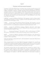 Tài liệu Unit_9: Programs and programming languages pdf