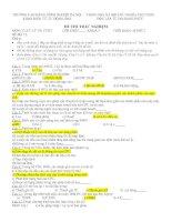 Tài liệu ĐỀ THI TRẮC NGHIỆM MÔN: VI XỬ LÝ VÀ CTMT (ĐỀ 12) docx