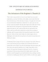 Tài liệu LUYỆN ĐỌC TIẾNG ANH QUA TÁC PHẨM VĂN HỌC-THE ADVENTURES OF SHERLOCK HOMES -ARTHUR CONAN DOYLE 9-2 pdf