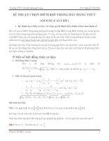 Tài liệu Kỹ thuật chọn điểm rơi trong Bất đẳng thức AM-GM (Cauchy) pptx