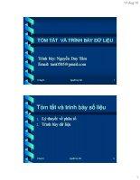 Tài liệu TÓM TẮT VÀ TRÌNH BÀY DỮ LiỆU - Nguyễn Duy Tâm doc