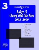 Tài liệu Hướng dẫn phụ huynh về Chương trình giáo khoa lớp 3 2008-2009 pdf