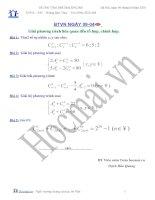 Tài liệu Giải các phương trình liên quan đến tổ hợp - chỉnh hợp (Bài tập và hướng dẫn giải) ppt