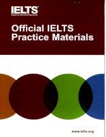 Tài liệu Oficial IELTS Practice Materials 2009 doc